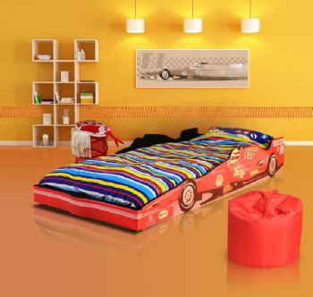 Children's F1 Racing Car Bed